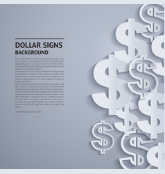 Dollar signs on grey background vector