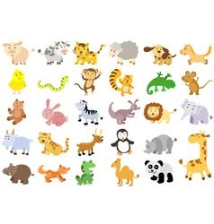 Extra large set animals vector