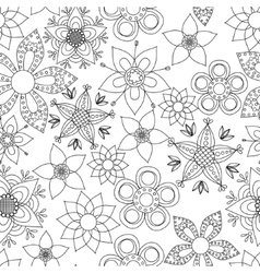 Fantasy flowers coloring vector