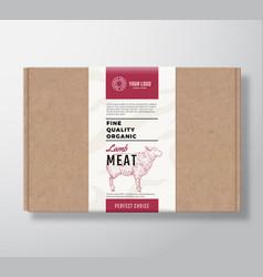 Fine quality organic lamb craft cardboard box vector