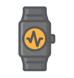 fitness tracker filled outline icon fitness vector image