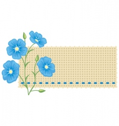 Flax flower vector