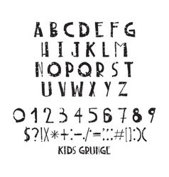 Funny children simple negligent letters grunge vector image