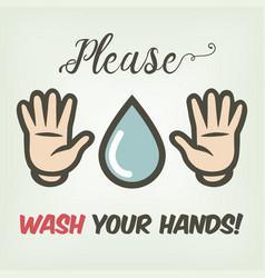 gentle suggestion washing hands in cartoon vector image