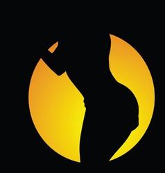 Girl body silhouette vector