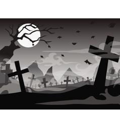 Halloween tomb background vector
