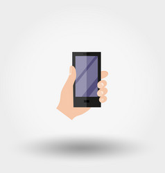 hand with phone vector image