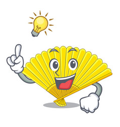 have an idea folding fan isolated with the cartoon vector image