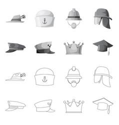 Headwear and cap logo set vector