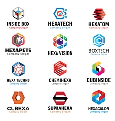 Hexagonal shapes Design vector image vector image