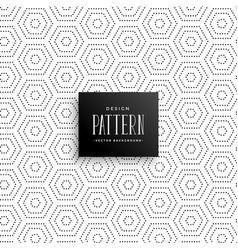 Hexagonal subtle dots pattern background vector