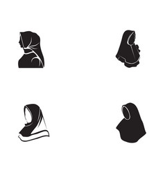 Hijab black vector