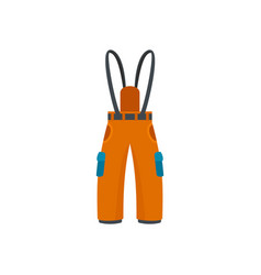 Hiking pants icon flat style vector