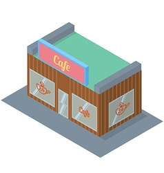 Isometric cafe building icon vector image