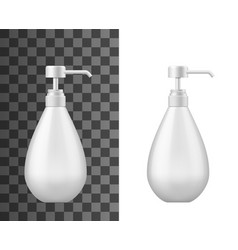 lotion or gel with dispenser cosmetics vector image