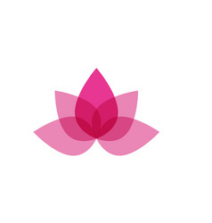 lotus flower sign for wellness spa and yoga vector image