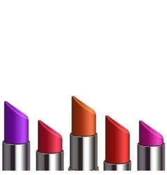 modern lipstick set vector image
