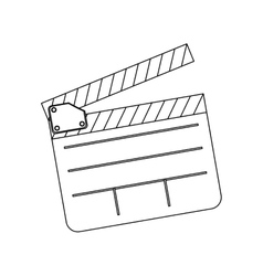 Monochrome contour with clapperboard film vector