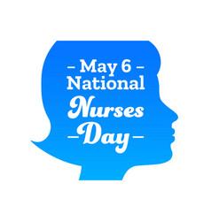 National nurses day may 6 holiday concept vector