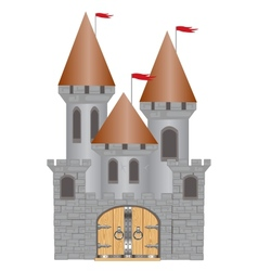 Old-time fortress vector