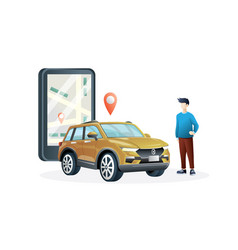 online taxi vector image