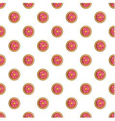 pink glazed donut pattern vector image