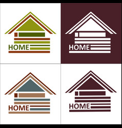 real estate symbols - roofs of houses vector image