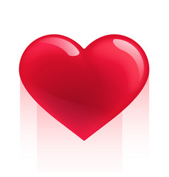 red realistic heart isolated on white vector image