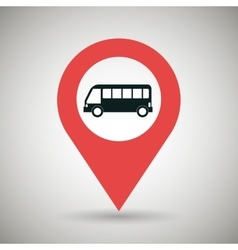 red signal black bus isolated icon design vector image