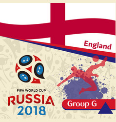 Russia 2018 wc group g england background vector