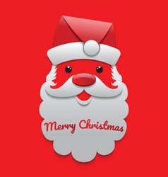 santa claus on the red background vector image vector image