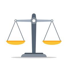 Scales justice icon empty scales vector