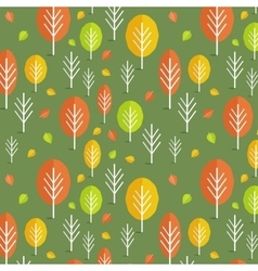 Seamless fall pattern vector