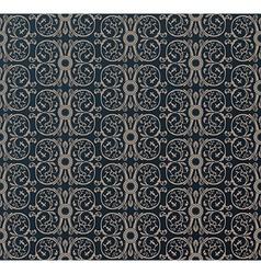 Seamless vintage heraldic wallpaper ornament black vector image