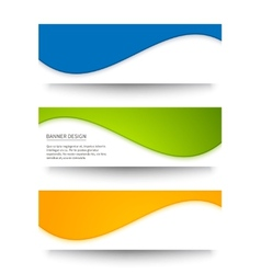 set banners for your design vector image