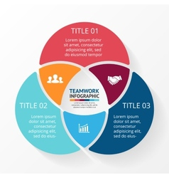 Social teamwork infographic Template for circle vector