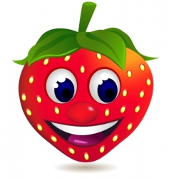 strawberry cartoon vector image