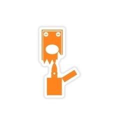 Stylish sticker on paper money to burn vector
