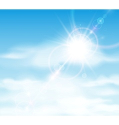 sun is shining behind clouds vector image
