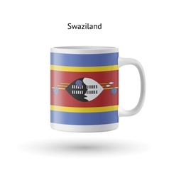Swaziland flag souvenir mug on white background vector