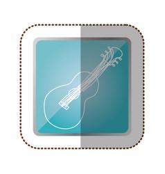Symbol guitar instrument icon vector