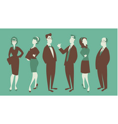 team three men and three women in business vector image