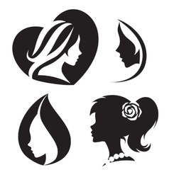 template abstract logo for woman salons and vector image