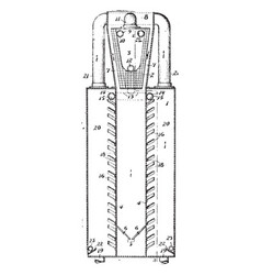 Tool for distillation vintage vector