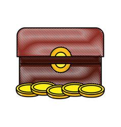 treasure chest box present gift jesus christmas vector image