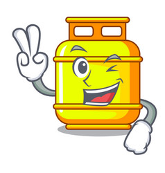 Two finger gas tank operating character vector