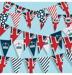 UK bunting background vector