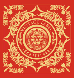 vintage label ornament collection vector image