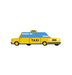Yellow cab vector