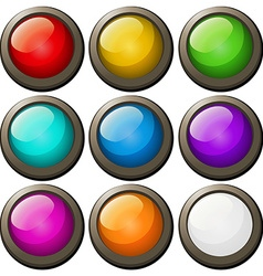 Round buttons in different colors vector image vector image